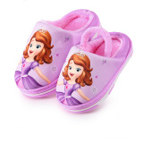 Toddlers Kids Sophia Princess Flannel Warm Winter Home House Slippers