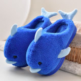 Toddlers Kids 3D Dolphin Flannel Warm Winter Home House Slippers