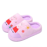 Toddlers Kids Embroidered Peppa Pig George Warm Winter Home House Slippers Shoes