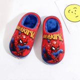 Toddlers Kids Spider Man Flannel Warm Winter Home House Slippers