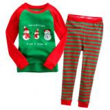Toddler Boy 2 Pieces Pajamas Sleepwear Christmas Long Sleeve Shirt & Leggings Set