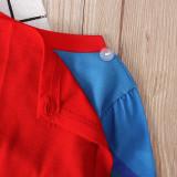 Kids Marvel Super Man Pajamas Sleepwear Set With Cloak Long-sleeve Cotton Pjs