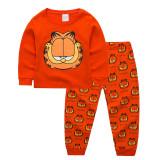 Kids Garfield Pajamas Sleepwear Set Long-sleeve Cotton Pjs