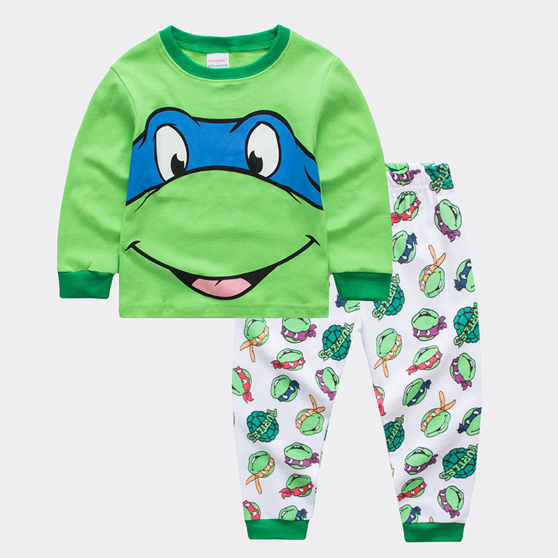 Kids Teenage Mutant Ninja Turtles Pajamas Sleepwear Set Long-sleeve Cotton Pjs