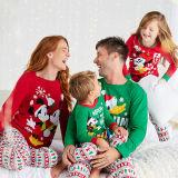 Kids Christmas Mickey Mouse Goofy Pajamas Sleepwear Set Long-sleeve Cotton Pjs