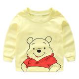 Kids Yellow Winnie the Pooh Pajamas Sleepwear Set Long-sleeve Cotton Pjs