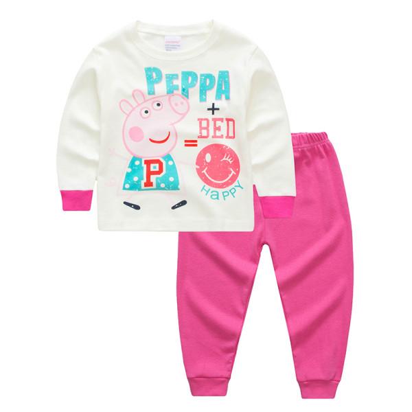 Kids Peppa Pig Pajamas Sleepwear Set Long-sleeve Cotton Pjs