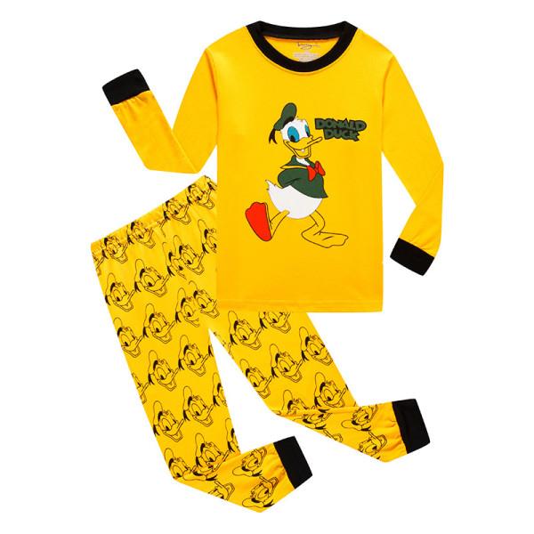 Kids Donald Duck Pajamas Sleepwear Set Long-sleeve Cotton Pjs