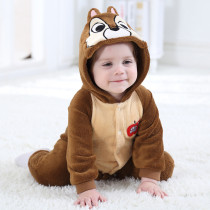 Baby Brown Squirrel Onesie Kigurumi Pajamas Animal Costumes for Unisex Babys