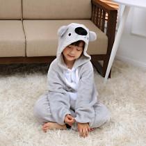 Kids Grey Koala Onesie Kigurumi Pajamas Animal Costumes for Unisex Children
