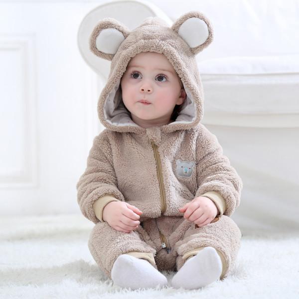 Baby Bear Onesie Kigurumi Pajamas Animal Costumes for Unisex Babys