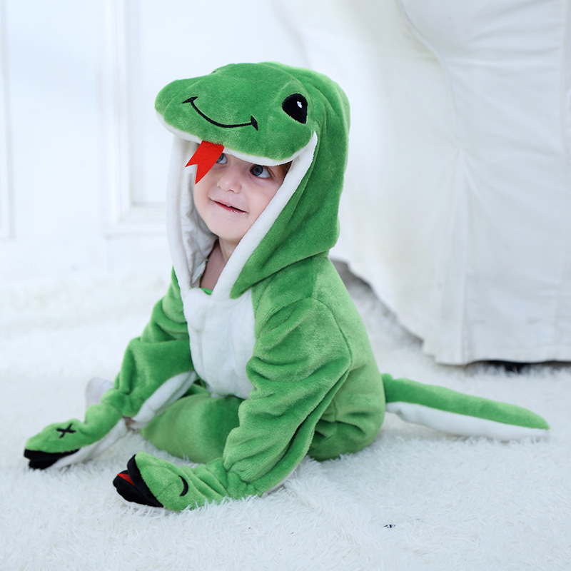 Baby Green Snake Onesie Kigurumi Pajamas Animal Costumes for Unisex Babys