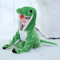 Baby Green Snake Onesie Kigurumi Pajamas Animal Costumes for Unisex Babys
