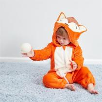Baby Oragne Fox Onesie Kigurumi Pajamas Animal Costumes for Unisex Babys
