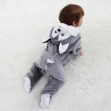 Baby Grey Huskie Onesie Kigurumi Pajamas Animal Costumes for Unisex Babys