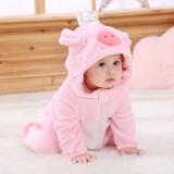 Baby Pink Crown Pig Onesie Kigurumi Pajamas Animal Costumes for Unisex Babys