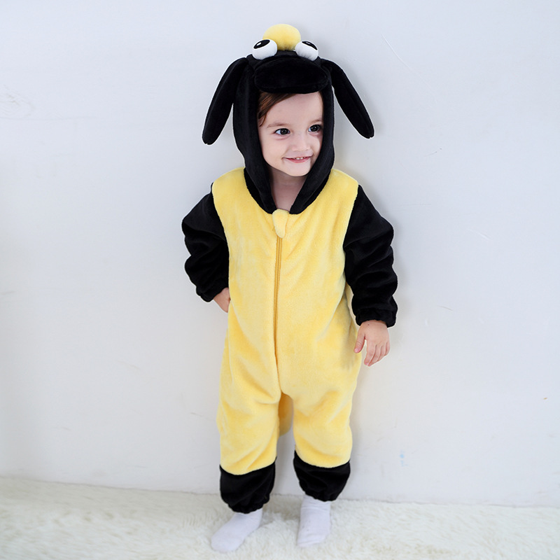 Baby Brown Kangaroo Onesie Kigurumi Pajamas Animal Costumes for Unisex Babys