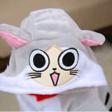 Kids Chi's Sweet Home Grey Cat Onesie Kigurumi Pajamas Animal Costumes for Unisex Children
