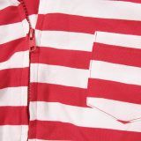Christmas Family Matching Sleepwear Pajamas Sets Red Stripes Hoodies Jumpsuit