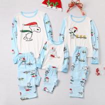 Christmas Family Matching Sleepwear Pajamas Sets Print Cartoon Snoopy Top and Pants