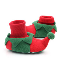Baby Toddlers Boy Girls Flannel Christmas Trees Animal Non-Skid Indoor Slipper Winter Warm Shoes Socks