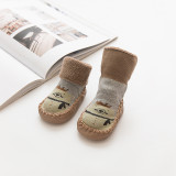 Baby Toddlers Girls Boy Cute Crown Bear Non-Skid Indoor Winter Warm Shoes Socks