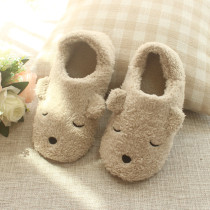 Adult Cozy Plush Cute Bear Animal House Winter Warm Soft Sole Footwear