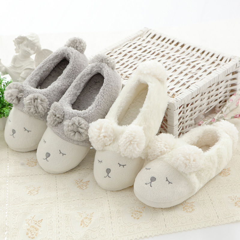 Adult Cozy Flannel Cute Sheep Animal House Family Winter Warm Footwear