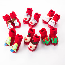 Baby Toddlers Girls Boy Christmas Winter Warm Shoes Socks