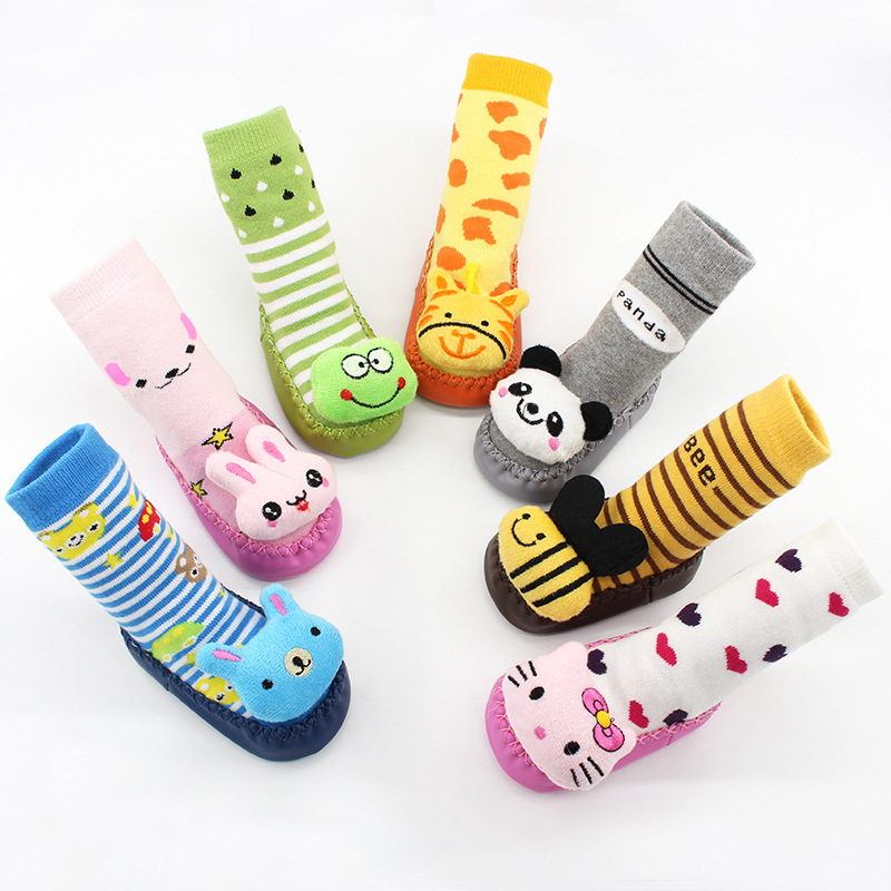 Baby Toddlers Girls Boy Cute 3D Animals Non-Skid Indoor Winter Warm Shoes Socks