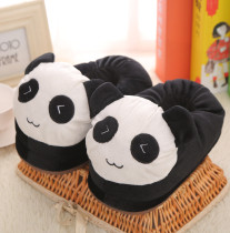 Cozy Flannel Cute Black Panda Animal House Family Winter Warm Footwear