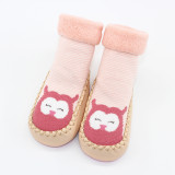 Baby Toddlers Girls Boy Cute Animals Stripes Knit Non-Skid Indoor Winter Warm Shoes Socks