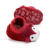 Baby Toddlers Boy Girls Plush Penguin Non-Skid Indoor Slipper Winter Warm Shoes Socks