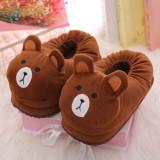 Cozy Flannel Cute Bear Animal House Family Winter Warm Footwear