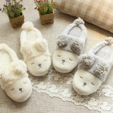 Adult Cozy Flannel Cute Sheep Animal House Winter Warm Slippers