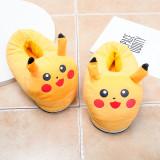 Cozy Flannel Yellow Pokemon Pikachu Animal House Family Winter Warm Footwear