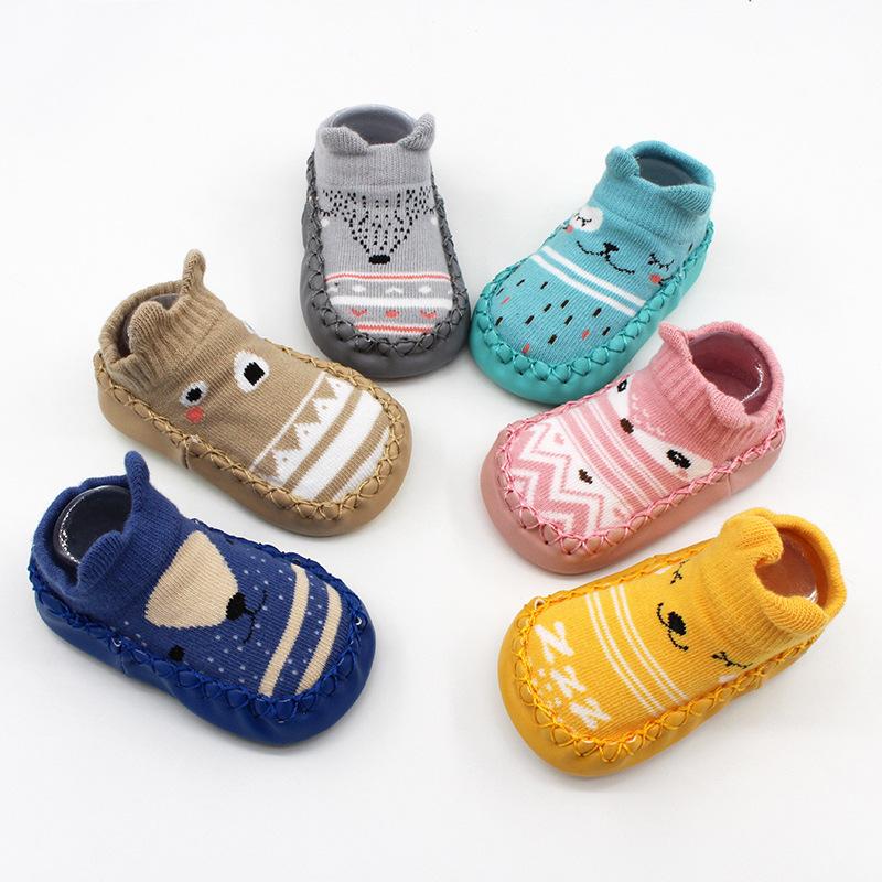 Baby Toddlers Girls Boy Cute Animals Non-Skid Indoor Winter Warm Short Shoes Socks