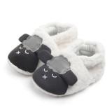 Baby Toddlers Boy Girls Plush Sheep Non-Skid Indoor Slipper Winter Warm Shoes Socks