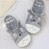 Adult Cozy Flannel Totoro Animal House Winter Warm Soft Sole Slippers