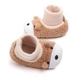 Baby Toddlers Boy Girls Plush Puppy Non-Skid Indoor Slipper Winter Warm Shoes Socks