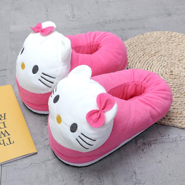 Cozy Flannel Pink Hello Kitty Animal House Family Winter Warm Footwear