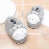 Cozy Flannel Grey Totoro Cat Animal House Family Winter Warm Footwear
