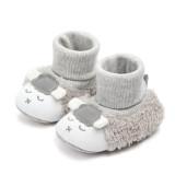 Baby Toddlers Girls Boy Plush Sheep Non-Skid Indoor Add Wool Winter Warm Shoes Socks