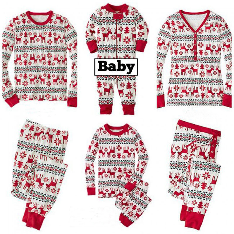 Christmas Family Matching Sleepwear Pajamas Sets Green Santa Claus Top and Red Green Stripes Pants