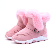 Kid Toddler Boy Girl Suede Winter Warm Snow Boots
