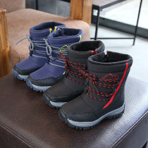 Kid Boy Thicken Add Wool Waterproof Winter Snow Boots