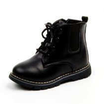 Kid Girl PU Leather Martin Ankle Boots