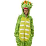 Kids Triceratops Dinosaur Onesie Kigurumi Pajamas Animal Cosplay Costumes for Unisex Children