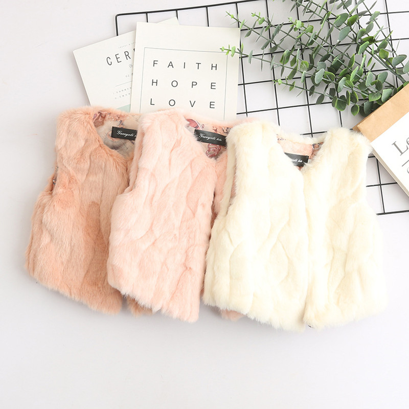 Toddler Kids Girl Faux Fur Thick Warm Vest Coats Outerwears