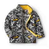 Toddler Kids Boy Polar Fleece Prints Dinosaurs Full Zipper Jacket Outerwear Coats